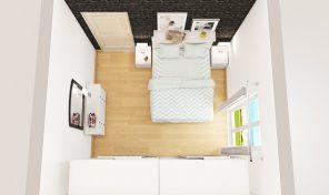 Bilocale + servizi, balcone, cantina